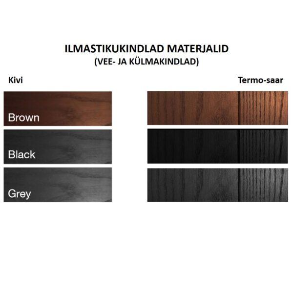 Terrassivalgusti materjalid