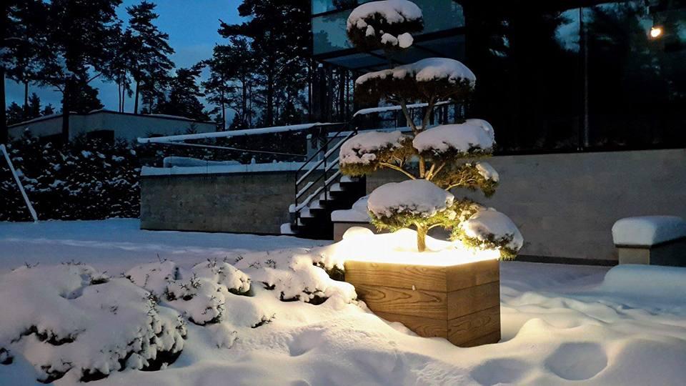 terrassivalgusti madal talvel