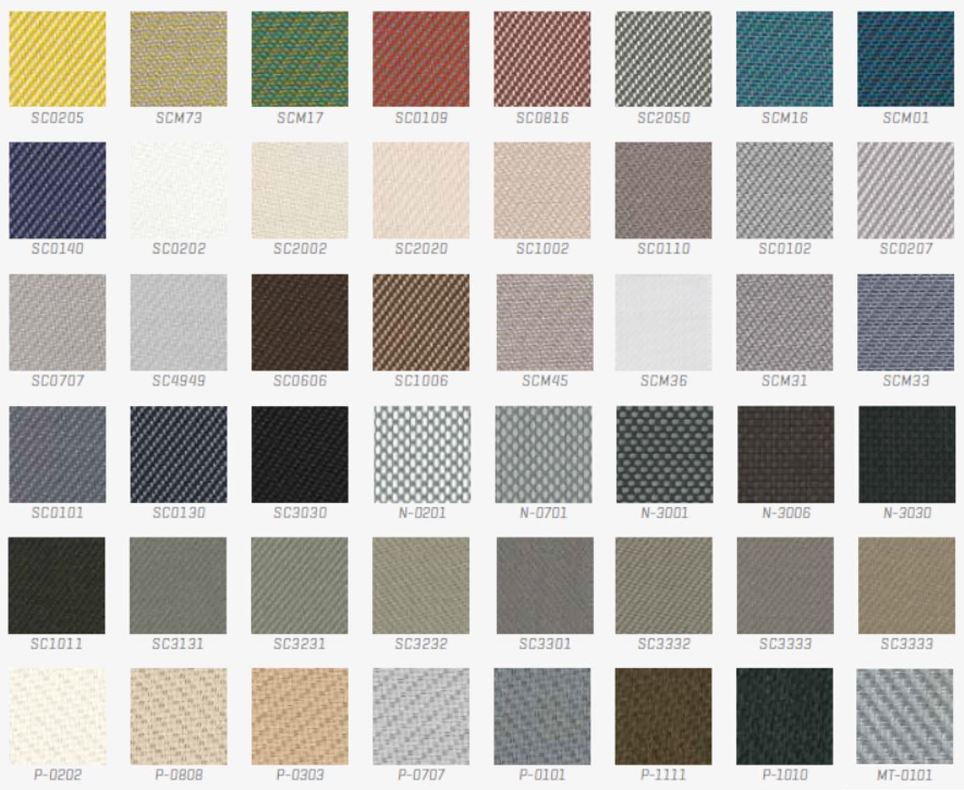 Renson ruloode värvid