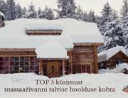 TOP 5 küsimust massaazivanni talvise hoolduse kohta
